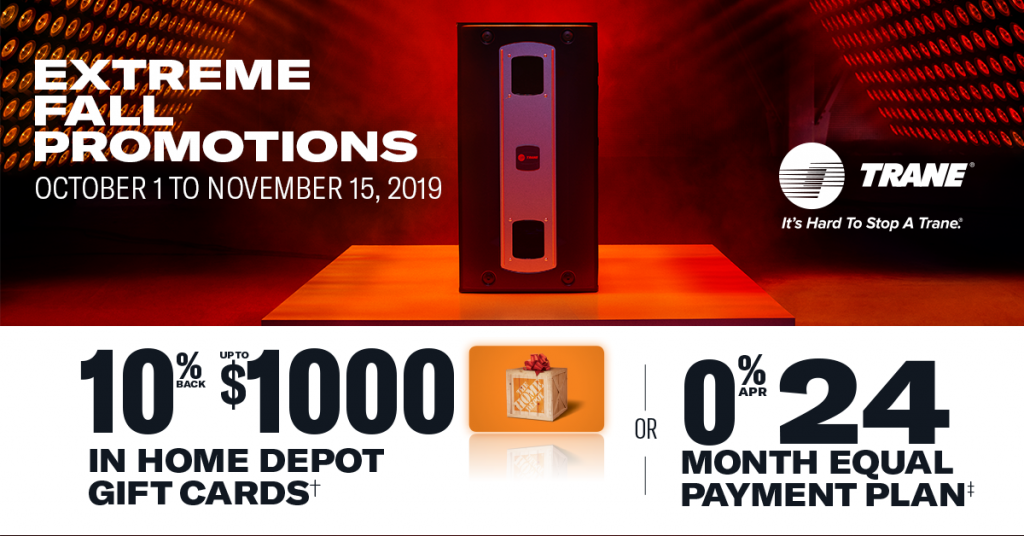 Trane Home Depot A Plus Air Systems Fall Promotion Newsfeed